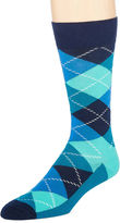 HS by Happy Socks Happy Socks Mens Argyle-Printed Crew Socks