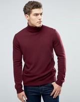 Benetton Merino Wool Roll Neck Sweater