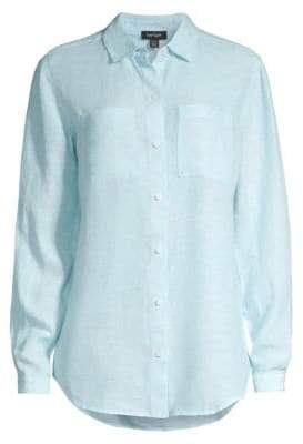 Lord & Taylor Button Front Linen Shirt