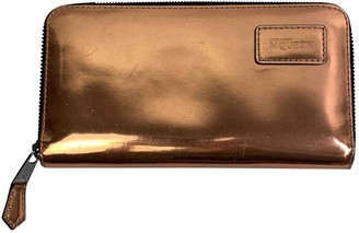 Alexander McQueen Metallic Patent leather Wallets