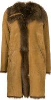Closed shearling coat