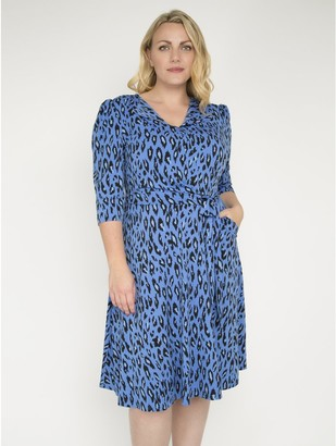 M&Co J by Jolie Moi revere collar midi dress