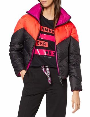 Armani Exchange Women's Chevron Real Down Bomber Jacket