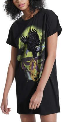 GUESS Graphic-Print Cotton Longline T-Shirt