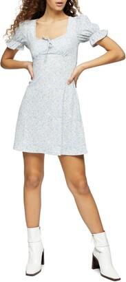 Topshop Cutout Back Flippy Minidress