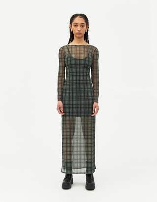 Which We Want Elizabeth Check Mesh Dress
