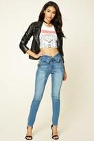 Forever 21 FOREVER 21+ High-Waist Skinny Jeans