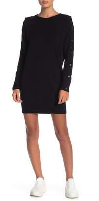 n:philanthropy Zorian Sleeve Snap Button Knit Dress