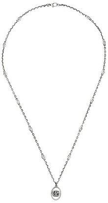 Gucci Necklace In Aged Sterling Silver With Double G Pendant