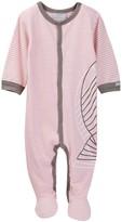 Coccoli Stripe Sleeve Footie (Baby Boys)