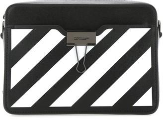 Off-White Diagonal Stripe Crossbody Bag