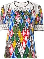 Peter Pilotto argyle print top