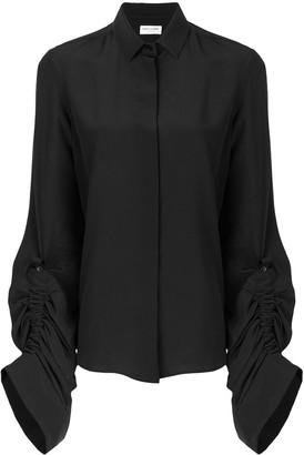 Saint Laurent oversized sliding sleeves shirt