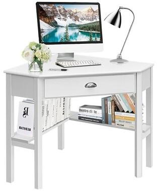 Red Barrel Studio Corner Computer Desk Color: Black