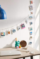 Urban Outfitters Metal Photo Clips String Set