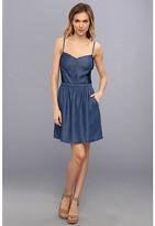 Splendid Indigo Dye Short Dress