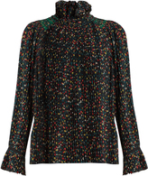 Vanessa Bruno Florence floral-print pleated-crepe blouse