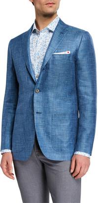 Kiton Men's Textured Cashmere Three-Button Jacket