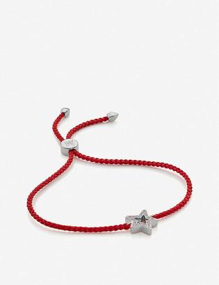 Monica Vinader Alphabet Star sterling-silver and diamond friendship bracelet