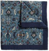 Charles Tyrwhitt Blue Wool Floral Italian Luxury Pocket Square