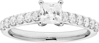 Platinum 1 Carat T.W. IGL Certified Diamond Princess Cut Engagement Ring