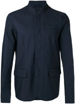 Emporio Armani stand collar blazer - men - Cotton/Polyamide/Elastolefin - M