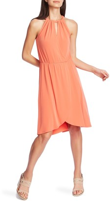 1 STATE Halter Neck Tulip Hem Dress
