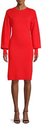 Vince Camuto Balloon-Sleeve Sweater Dress
