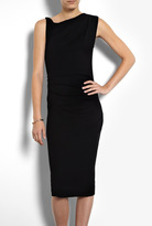 Joseph Black Perry Sleeveless New Wool Interlock Dress
