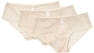 DKNY Sheer Lace Hipsters - Pack of 3