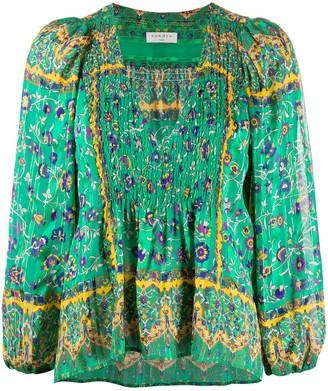 Sandro Paris Sand floral-print blouse