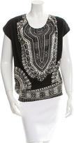 Thakoon Short Sleeve Silk Top