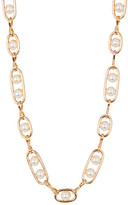 Stephan & Co Simulated Pearl Chain Link Necklace