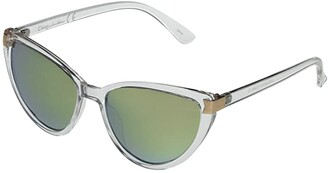 Sam Edelman Classic Cat-Eye with Metal Accents (Clear) Fashion Sunglasses