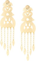 Josie Natori Crown clip-on earrings