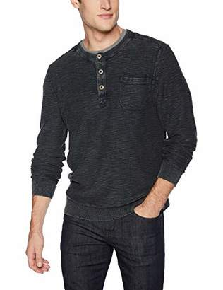 Lucky Brand Men's Casual Long Sleeve Washed Henley Sweater
