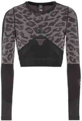 adidas by Stella McCartney Truepurpose leopard-printed training top