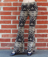 Black Paisley Flare Pants
