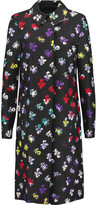 Diane von Furstenberg Amana floral-print wool and silk-blend coat