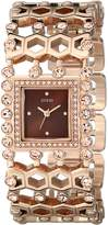 GUESS GUESS? Women's U0574L3 Rose Gold-Tone Watch with Crystals & Adjustable Links