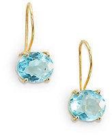 Nunu Faceted Drop Earring/Blue