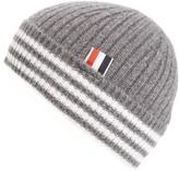 Thom Browne Men's Rib Knit Cashmere Beanie - Grey