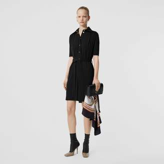 Burberry Short-sleeve Gathered Jersey Dress