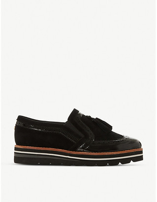 Dune Glorify leather and suede loafers