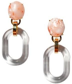Lele Sadoughi Club Link Acetate & Stone Drop Earrings