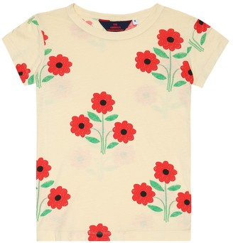 The Animals Observatory Hippo floral cotton-jersey T-shirt