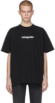 Vetements Black Postage T-Shirt