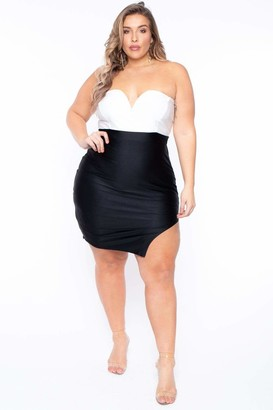 Curvy Sense Juliet Strapless Dress in Black Size 1X