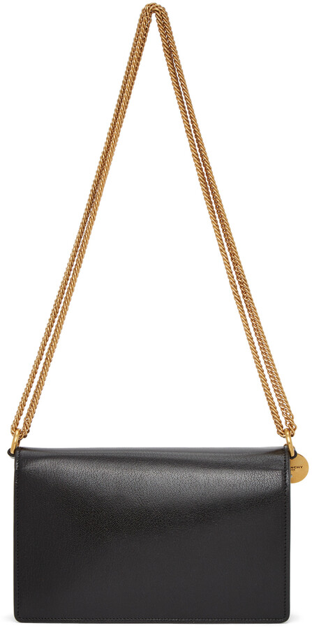 Thumbnail for your product : Givenchy Black & Grey Suede GV3 Wallet Bag