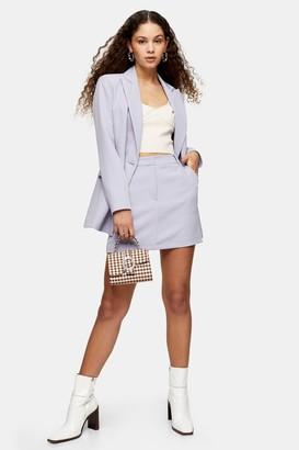 Topshop Womens Lilac Pelmet Mini Skirt - Lilac